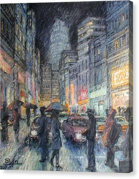Night Rain Canvas Print by Henry Potwin
