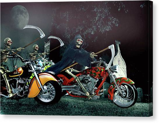 Night Riders Canvas Print