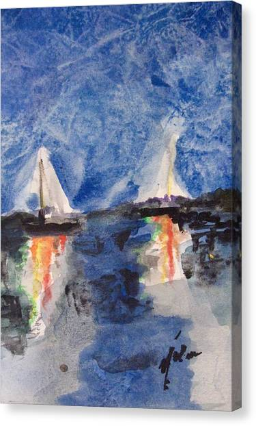 Night Sail  Canvas Print