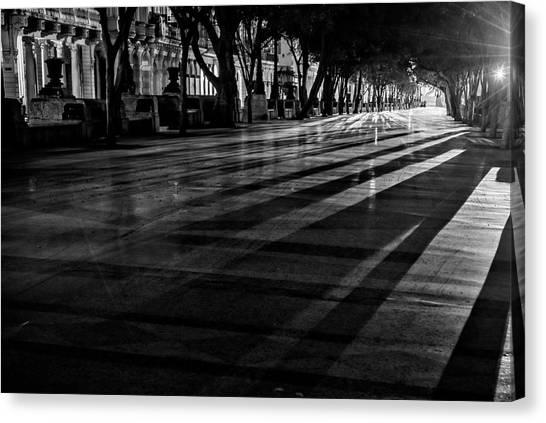 Prado Canvas Print - Night Shadows by Joan Carroll