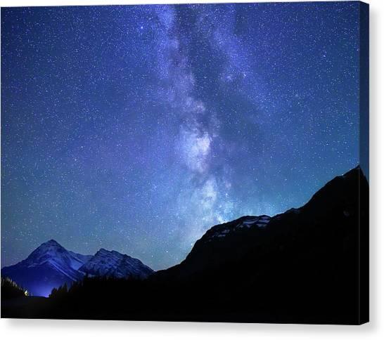 Night Sky In David Thomson Country Canvas Print