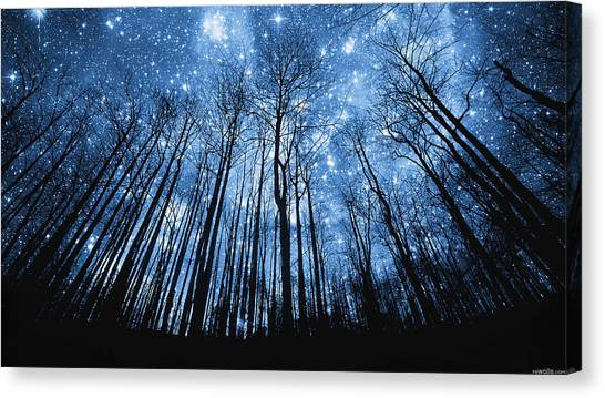 Outer Space Canvas Print - Night Sky by Jens Scheuerbrandt