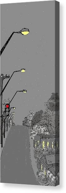 Night Streetscape Canvas Print by Bethwyn Mills