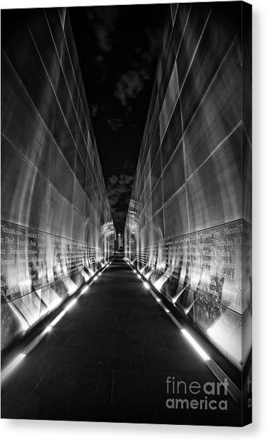 Night Time At Empty Sky Memorial Canvas Print