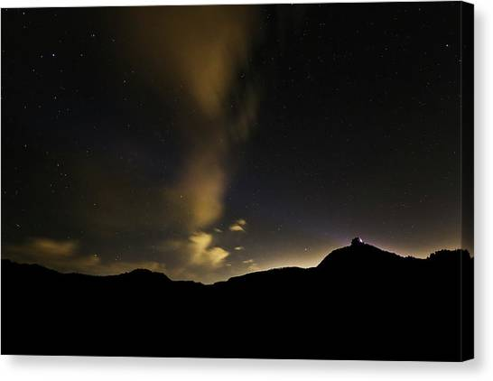 Night Time At Palo Duro Canyon State Park - Texas Canvas Print