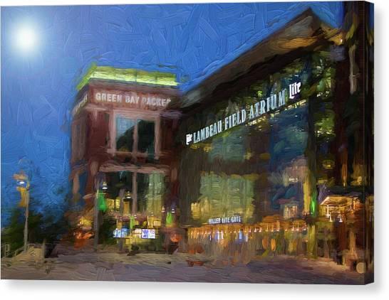 Night Time Lambeau Canvas Print