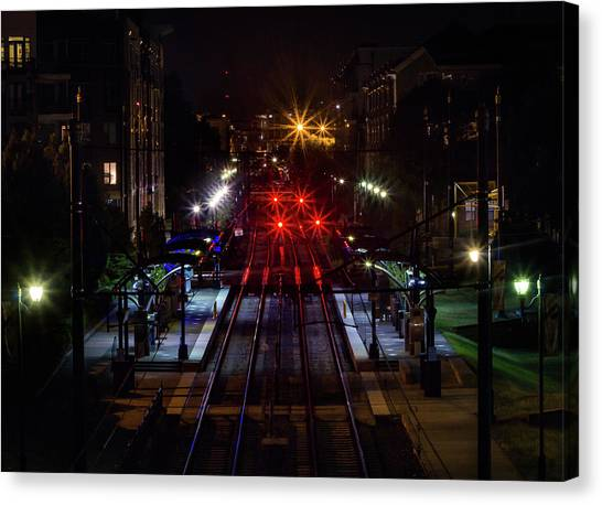 Night Tracks Canvas Print