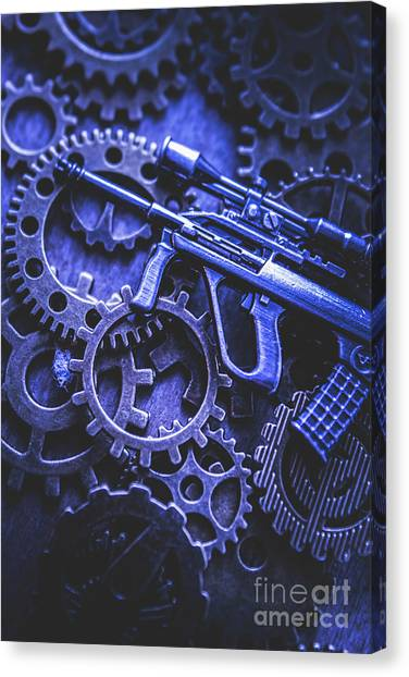 Rifles Canvas Print - Night Watch Gears by Jorgo Photography - Wall Art Gallery