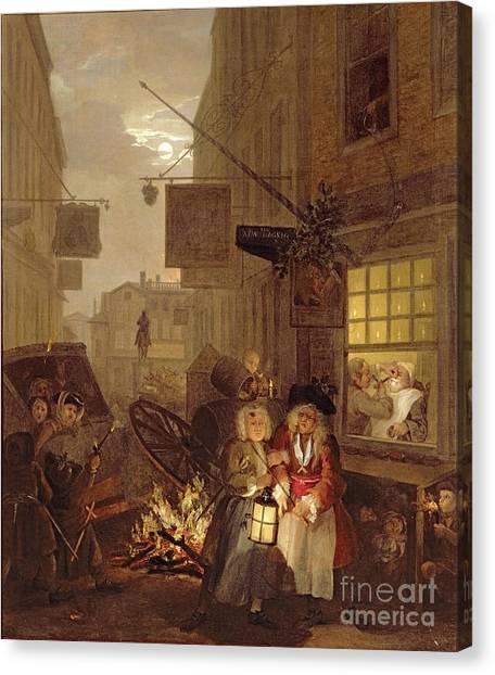 Chamber Pot Canvas Print - Night by William Hogarth