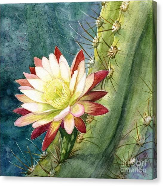 Nightblooming Cereus Cactus Canvas Print