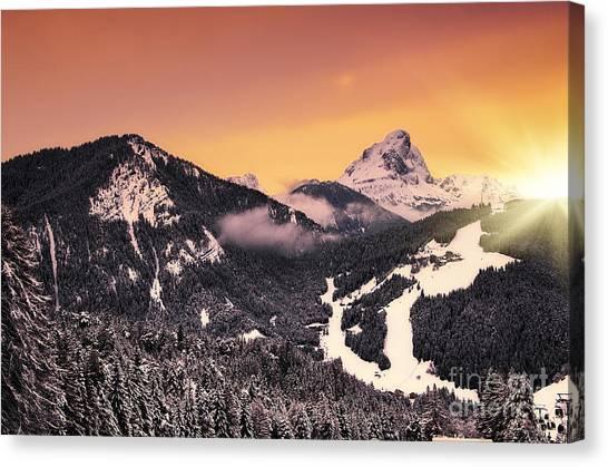 Nightfall Canvas Print by Alessandro Giorgi Art Photography