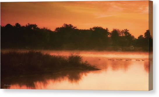 Nightfall Ducks Canvas Print