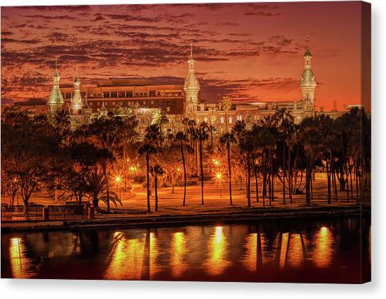 Nightfall In Tampa Canvas Print