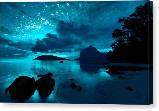 Nightfall Near Le Morne Canvas Print