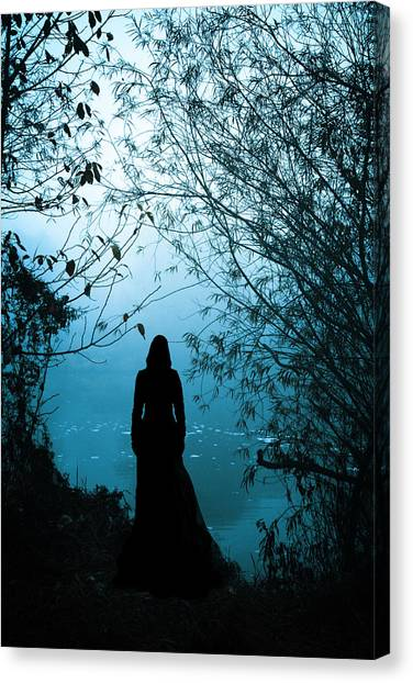 Gothic Art Canvas Print - Nightfall by Cambion Art