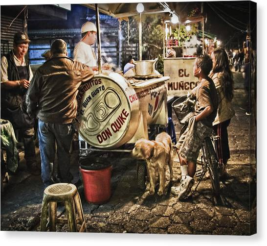 Nightlife In Guatemala Canvas Print