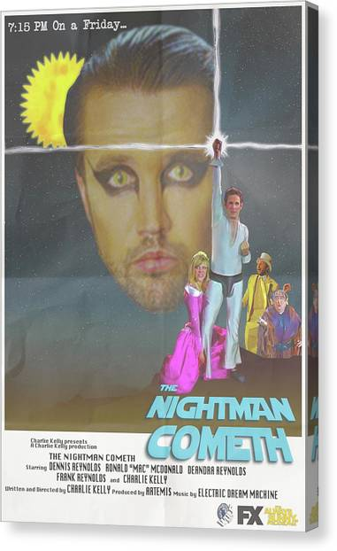 Philidelphia Canvas Print - Nightman by Alex Pena