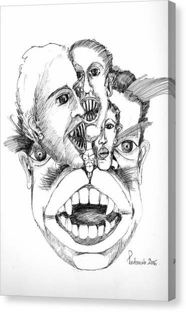 Nightmares Canvas Print by Padamvir Singh