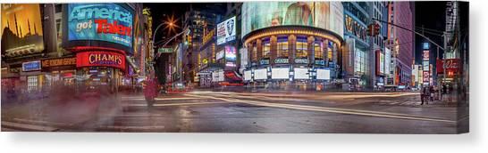 Neon Canvas Print - Nights On Broadway by Az Jackson