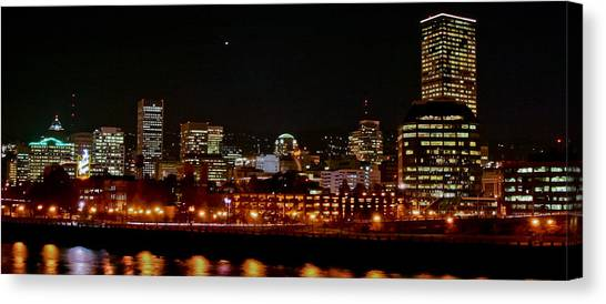 Nighttime In Pdx Canvas Print