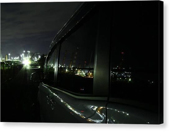 Toyota Canvas Print - Nightview by Hiroko Osawa