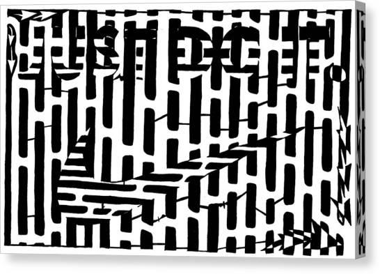 Nike Maze Canvas Print by Yonatan Frimer Maze Artist