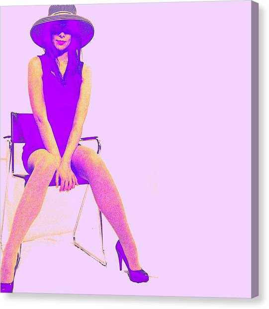 Vogue Canvas Print - Niki by Naxart Studio