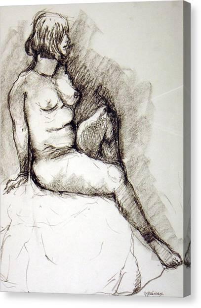 Nikki Canvas Print by Ujjagar Singh Wassan