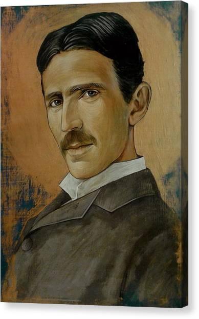 Nikola Tesla Canvas Print by Jovana Kolic