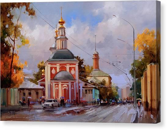Moscow Canvas Print - Nikoloyamskaya Street by Alexey Shalaev