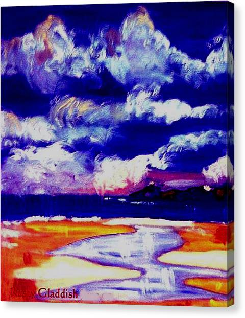 Nimbus Clouds Over Mumbles Canvas Print by Rusty Gladdish
