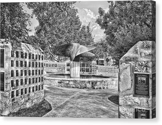 Nimitz Prop Fountain Canvas Print