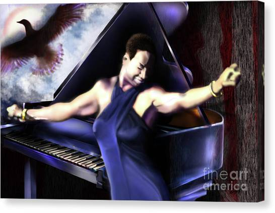 Nina - Feeling Good - Birds Flying High You Know How I Feel  Canvas Print