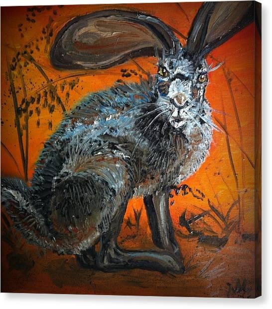 Nina's Rabbit Canvas Print