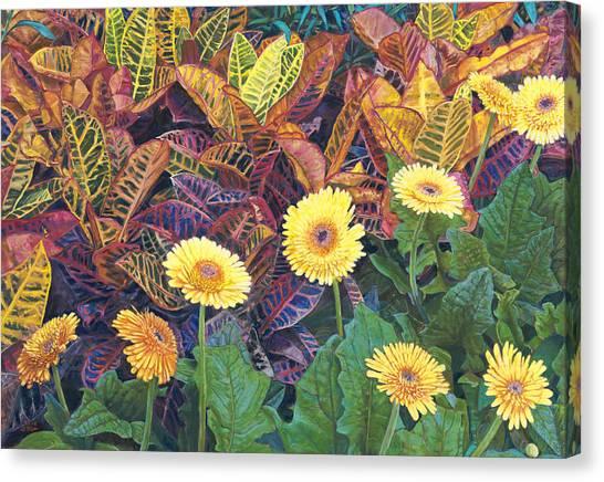 Nine Daisies Canvas Print