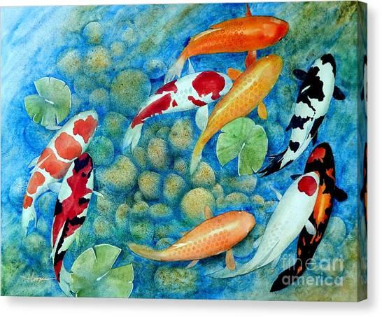 Koi Canvas Print - Nine Koi by Robert Hooper
