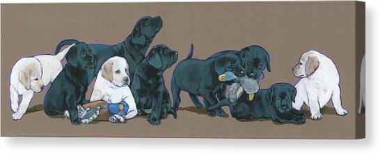 Canvas Print - Nine Lab Puppies by Nadi Spencer