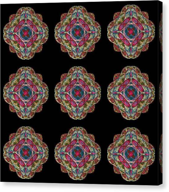 Nine Medallions Canvas Print by Thomas Smith