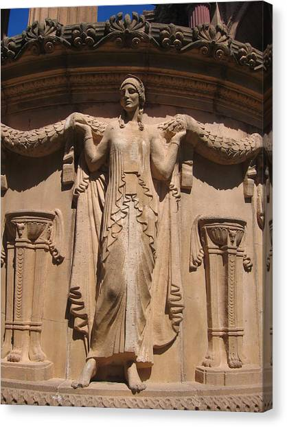 Nine-toed Maiden At The Palace Of Fine Arts In San Francisco Canvas Print by Don Struke