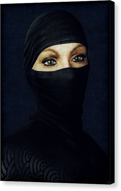 Ninja Portrait Canvas Print
