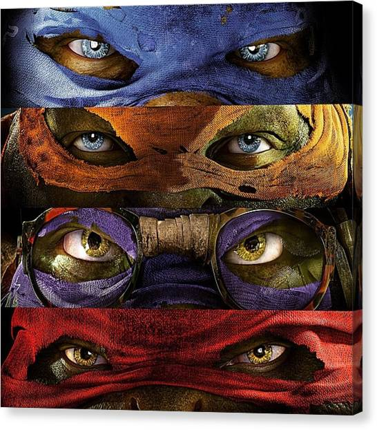 Turtles Canvas Print - #ninja #turtles #tartarughe #splinter by Domenico Alampi