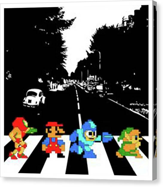 Mega Man Canvas Print - Nintendo by Wiro Sobo