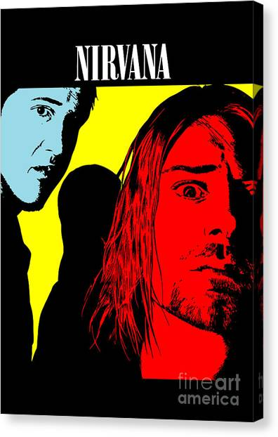 Nirvana Canvas Print - Nirvana No.01 by Geek N Rock