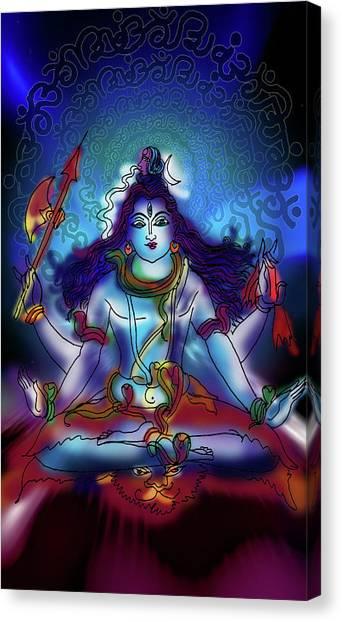Nirvikalp Samadhi Kapali Shiva Canvas Print
