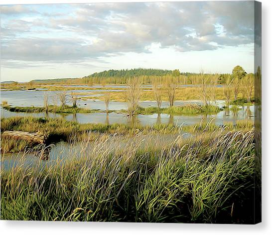Nisqually Tide Coming In Canvas Print