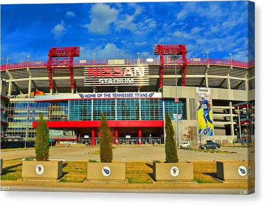 Nissan Stadium Home Of The Tennessee Titans Canvas Print