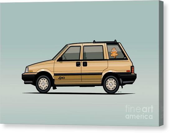 Grandpa Canvas Print - Nissan Stanza / Prairie 4wd Wagon Gold by Monkey Crisis On Mars