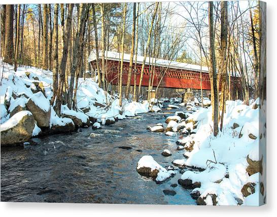 Nissitissit Covered Bridge Canvas Print