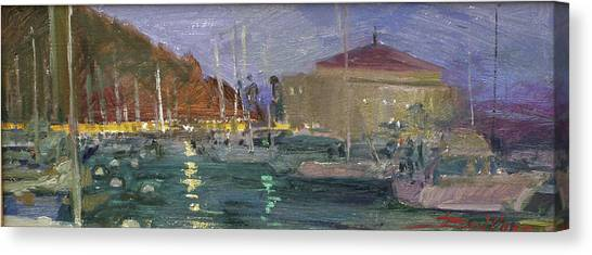 Nite Avalon Harbor - Catalina Island Canvas Print