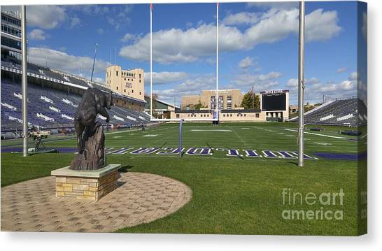 Northern Illinois University Canvas Print - Niu Football Field by Roger Look